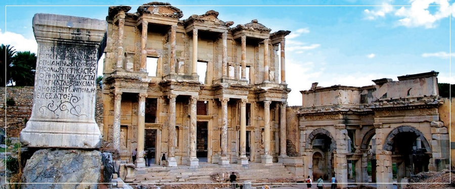 Kusadasi Port Tours (Shore Excursions) : Private Tour to Ephesus Ancient City with the Terrace Houses, Temple of Artemis, House of Virgin Mary, Traditional Turkish Lunch in a Local Restaurant